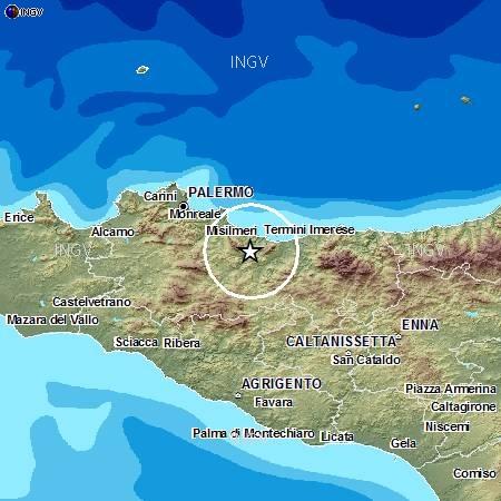 Cartina Sicilia Termini Imerese.Altavillamilicia Com Lieve Scossa Di Terremoto A Meno Di 20km Da Altavilla Milicia